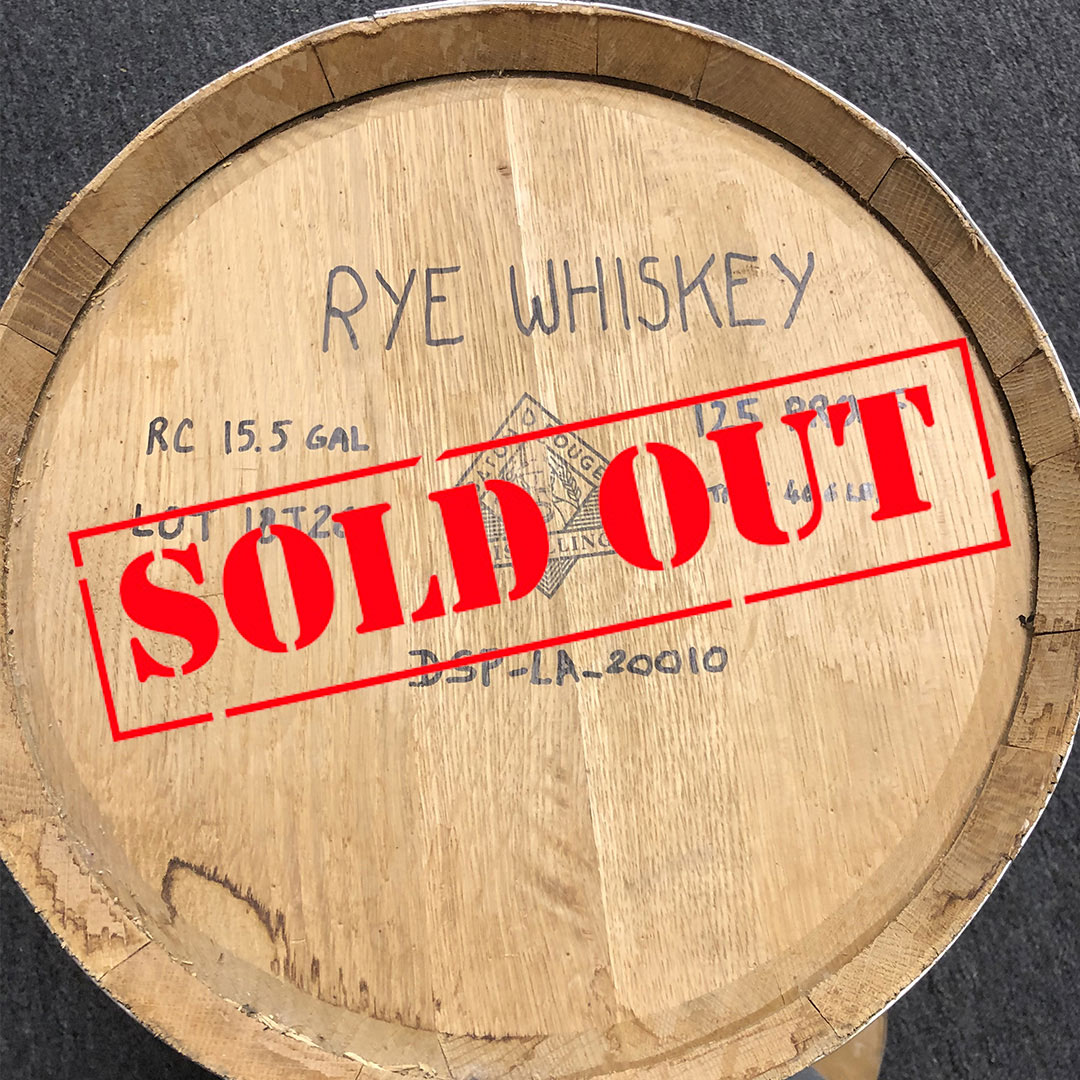 Rye Whiskey Barrel
